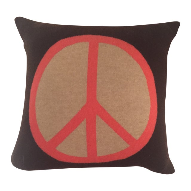 Image of Rani Arabella Cashmere Peace Sign Pillow