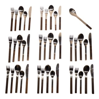 """Carl Aubock """"Duo"""" Flatware Service for Eight"""