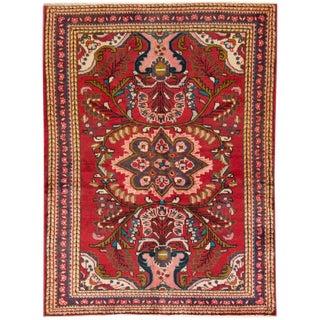 "Apadana - Vintage Persian Hamadan Rug, 3'9"" x 4'9"""