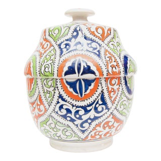Moroccan Multicolor Ceramic Jar