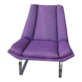 Modern Purple Lounge Chair
