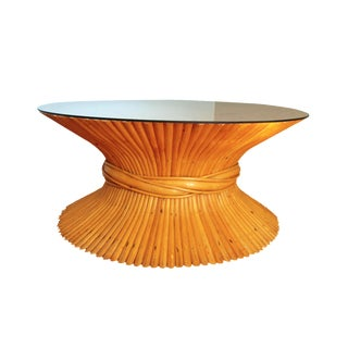Bamboo Sheaf of Wheat Coffee Table