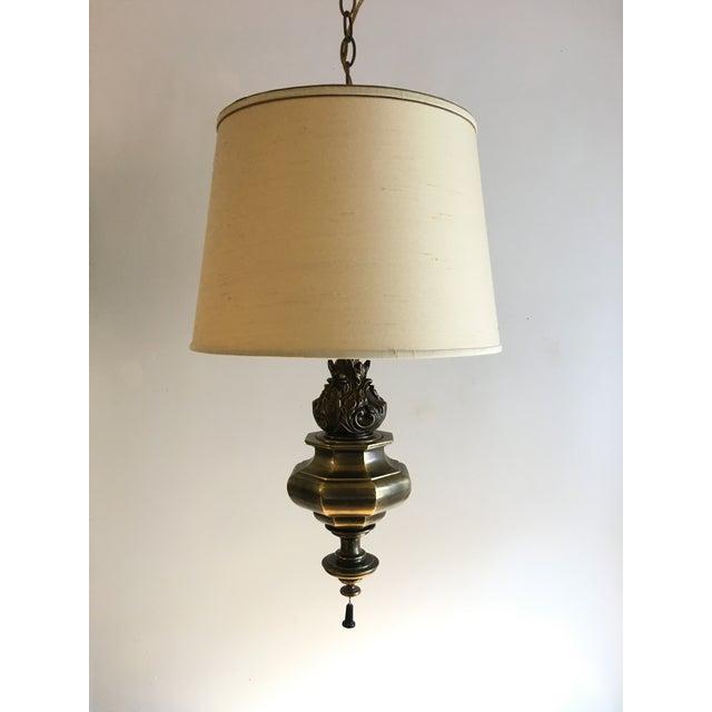 Mid Century Swag Lamp: Mid-Century Stiffel Brass Swag Lamp