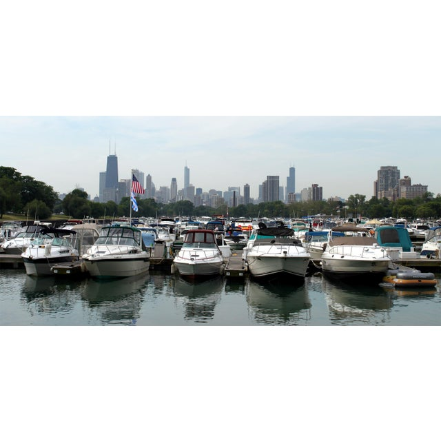 Image of Diversey Harbor, Chicago Skyline Photograph by Josh Moulton