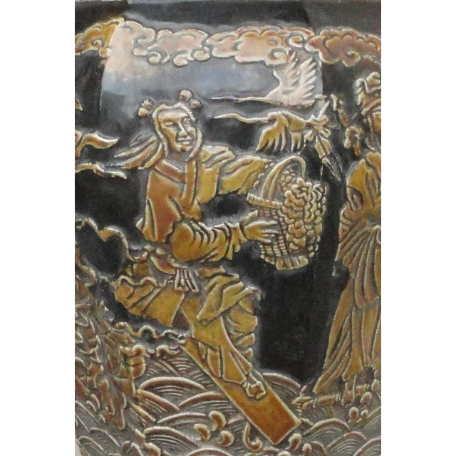 Chinese Eight Immortals Octangle Porcelain Vase - Image 9 of 10