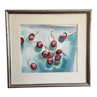 """Modern """"Cherries"""" Original Watercolor"""