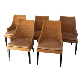 Modern Woven Dining Chairs - Set of 6