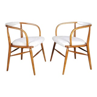 Sculptural Danish Modern Armchairs - A Pair