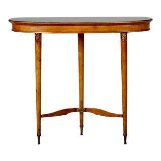 French Art Deco Walnut Console