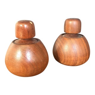 Mid-Century Salt & Pepper Shakers - A Pair