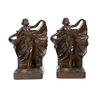1920s Book Ends - A Pair