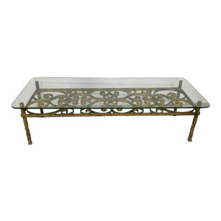Vintage Gilt Spanish Revival Coffee Table