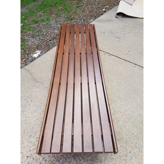 Mid-Century Slat Bench Coffee Table - Image 6 of 7