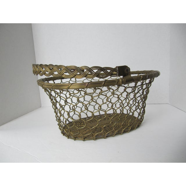 Brass Woven Basket - Image 4 of 5