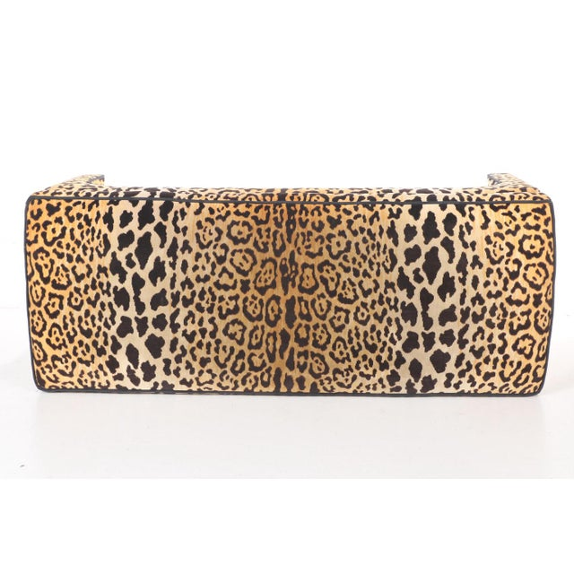 Leopard Print Upholstered Bench - Image 4 of 7