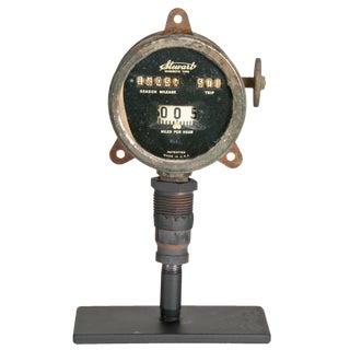Antique Stewart Odometer On Stand