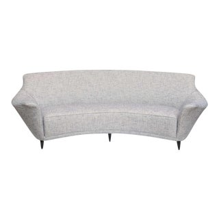 Ico Parisi Curved Back Sofa Manufactured by Ariberto Colombo