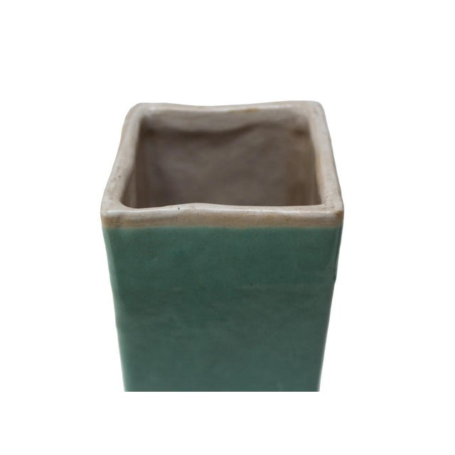 Turquoise Drip Glaze Vases - A Pair - Image 3 of 4