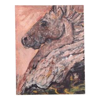 'Pegasus' Oil Painting on Board