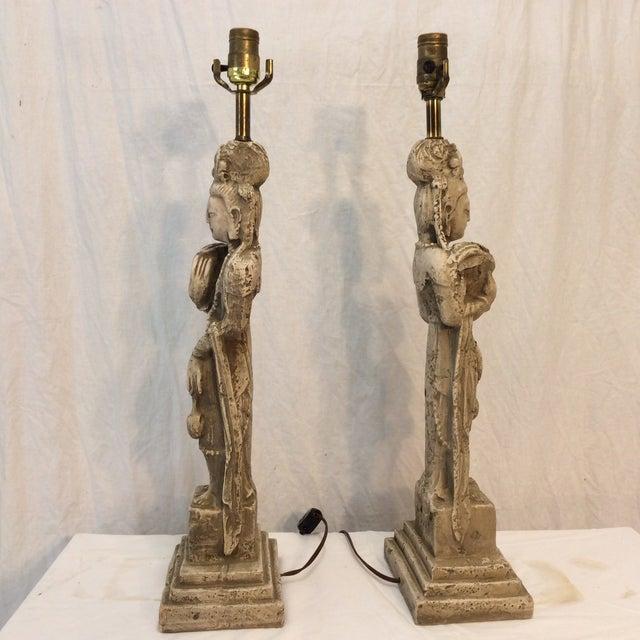 MCM Quan Yin Lamps - Pair - Image 7 of 7