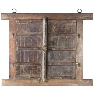 Rustic Salvaged Shuttered Window Frame