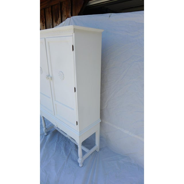 Antique White Painted Cabinet - Image 7 of 8