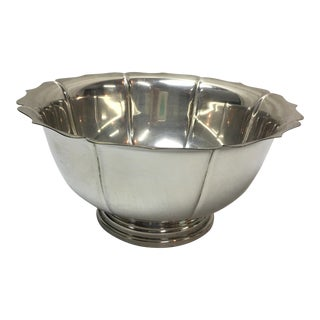 Scalloped Silver-Plate Bowl