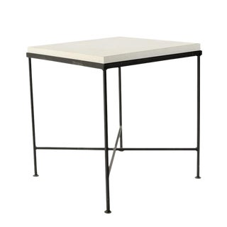 Limestone & Iron Side Table
