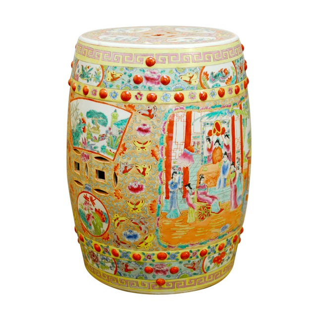 Chinese Hand-Painted Porcelain Garden Stool - Image 1 of 5