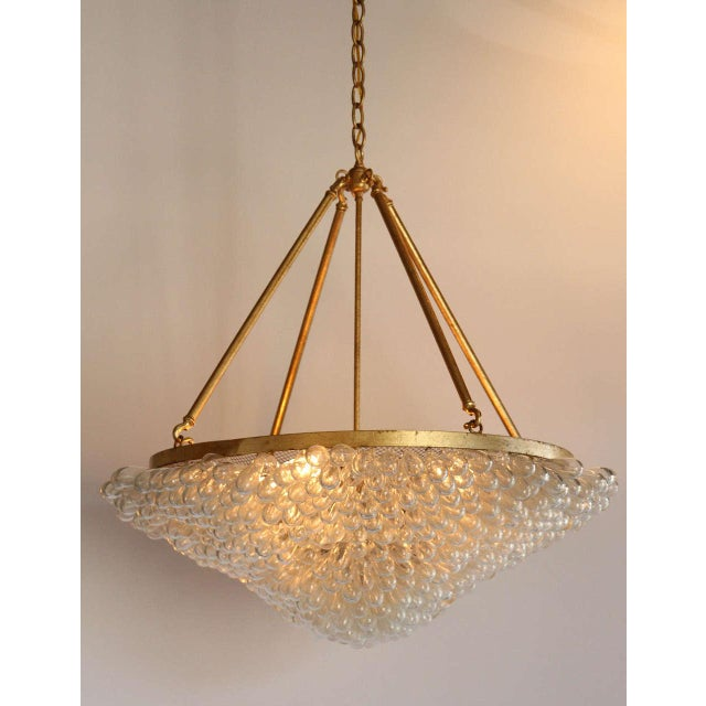 Image of Large Blown Glass Beaded Chandelier