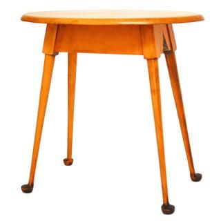 Mid-Century Modern Oval Wood Side Table