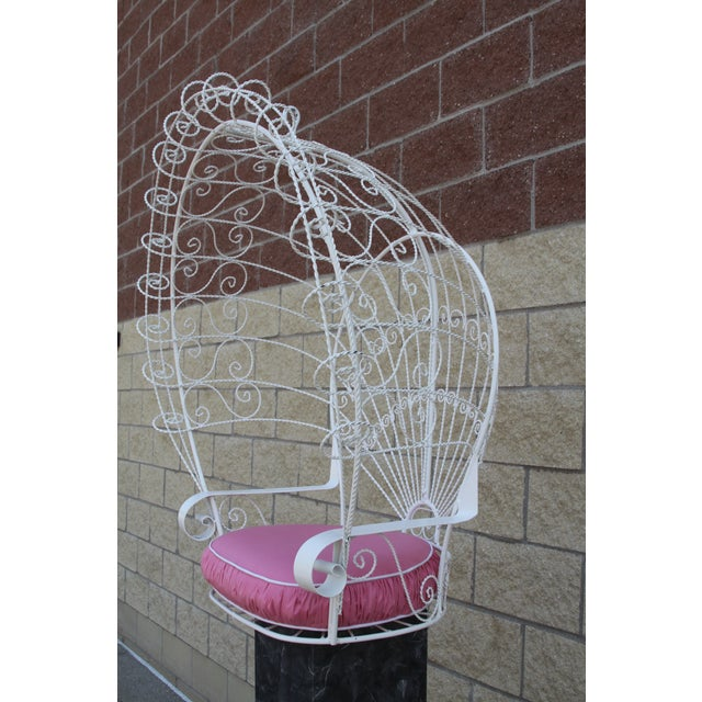 Vintage Metal Hanging Peacock Chair - Image 6 of 10