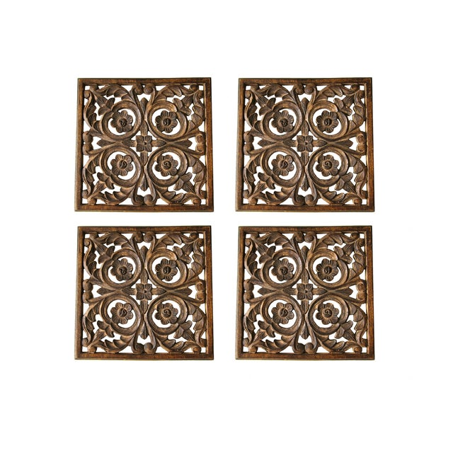 Vintage Wood Wall Art Pieces - Set of 4 - Image 1 of 2
