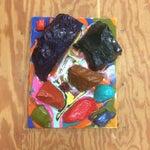 Image of Vintage Op Art 3D Mixed Media Canvas