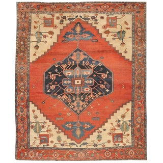 Antique Mid-19th Century Persian Serapi Carpet