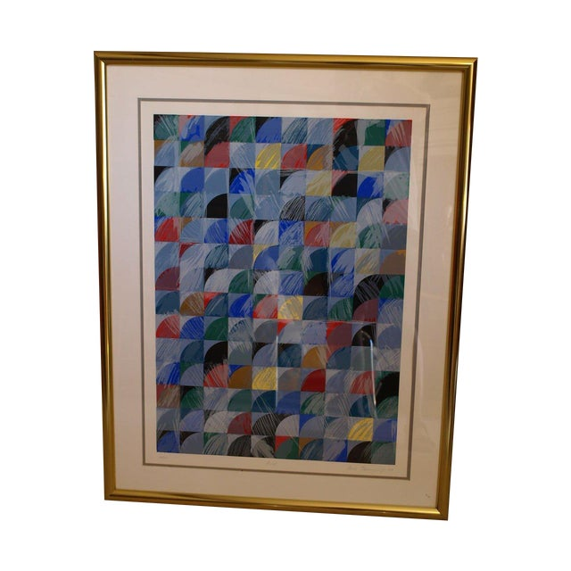 """Ann Thornycroft Abstract Lithograph Titled """"Anel"""" - Image 1 of 6"""