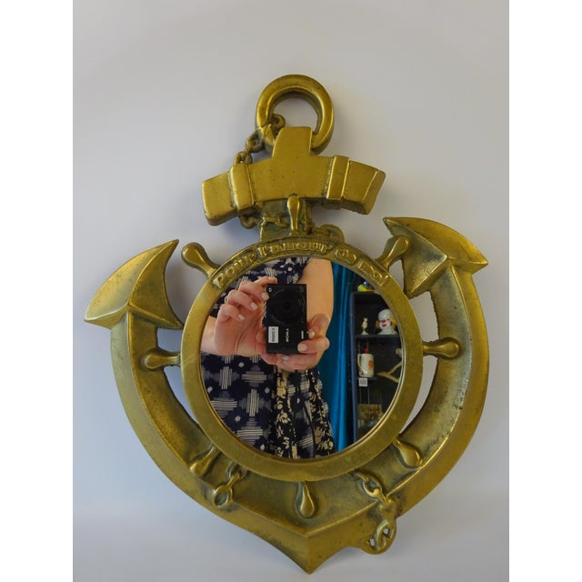 Brass Nautical Mirror - Image 2 of 6