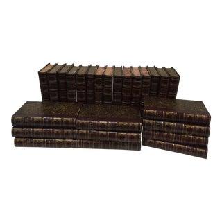 1879 Antique Book Set Sir Walter Scott's Novels Vol. 1-25. - Set of 25