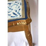 Image of Gilt & Sapphire Painted Accent Table