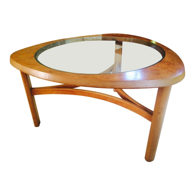 Mid-Century Atomic Triangular Coffee Table