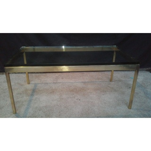Ward Bennett Brass & Glass Coffee Table - Image 3 of 5