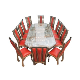 Handmade Moroccan Dinning Table & Chairs - Set of `3