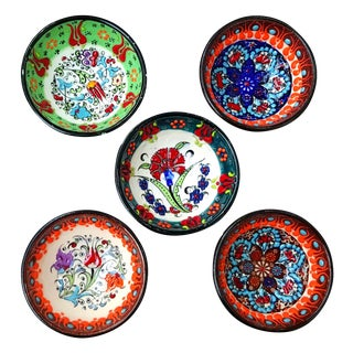Turkish KutayhyaTile Bowls - Set of 5