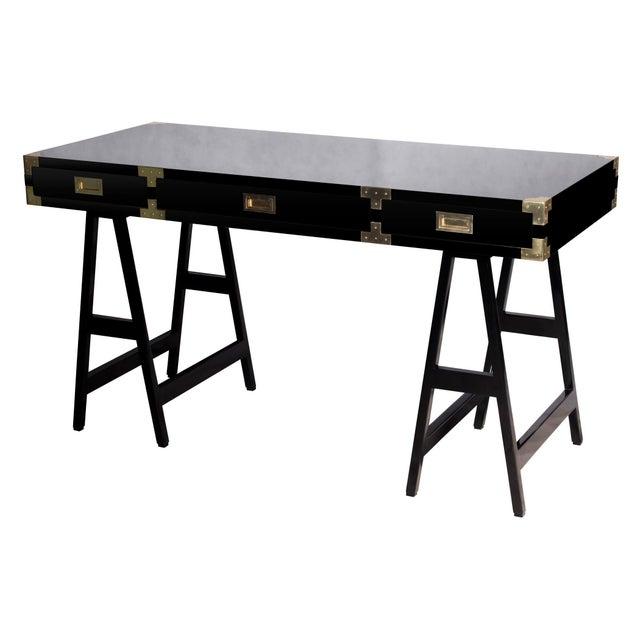 Selamat Designs Chiba Black Lacquer Study Desk - Image 8 of 8