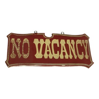 Vintage Weathered Vacancy/No Vacancy Wooden Sign
