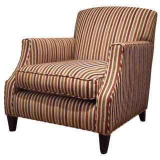 Crate & Barrel Striped Club Chair