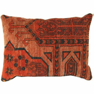 Vintage Red Carpet Lumbar Pillow