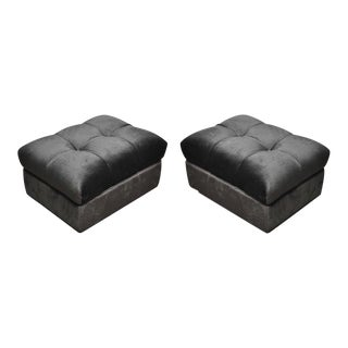 """Tufted Dunbar Rolling """"Party Ottomans"""" by Edward Wormley"""