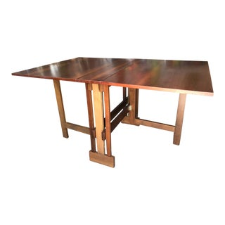John Stuart Mid-Century Drop-Leaf Dining Console Table