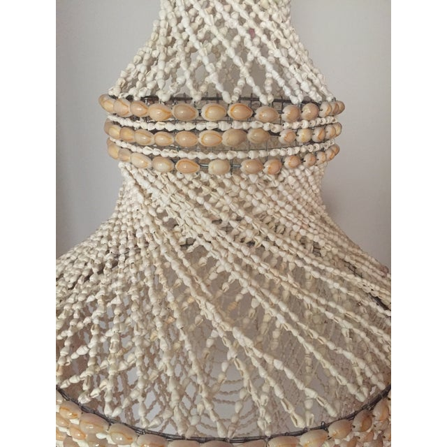 Beaded Shell Chandelier Lantern - Image 5 of 7